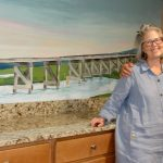 linda and mary with mural