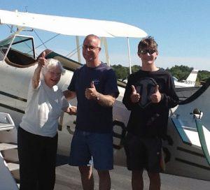 Terry Coronella, biplane w/great grandson