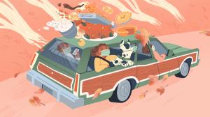 thanksgiving family car