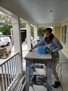 sanding countertops