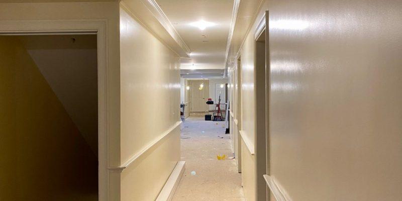 gleaming hallway